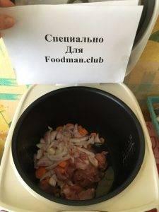 Тушеная картошка со свининой в мультиварке - 4