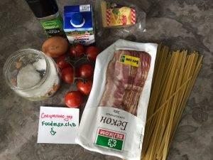 Спагетти карбонара в сливочном соусе - 0