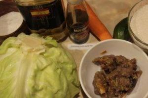 Салат из капусты с мясом - 0