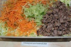 Салат из капусты с мясом - 2