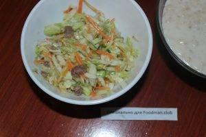 Салат из капусты с мясом - 4