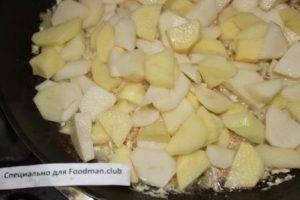 Картофель, жаренный с лисичками - 4