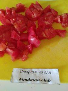 Салат с помидорами и чечевицей - 1