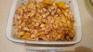 Тыква с яблоками в духовке - 3