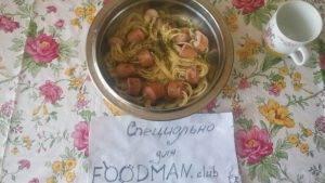 Оригинальные спагетти с сосисками - 4