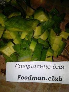 Салат с авокадо и крабовыми палочками - 1