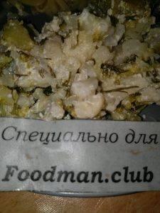 Цветная капуста с брокколи, тушенные в сметане - 2