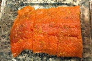 Жаренный лосось в маковом кляре - 0