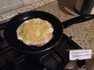 Овсяноблин с сыром и помидорами - 3