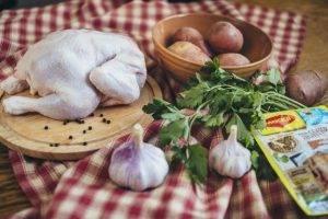 Курица, запеченная с картофелем по-деревенски - 0