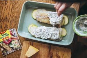 Треска, запеченная с кабачками под сырной корочкой - 1