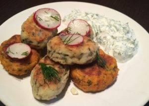 Сырники с картофелем и морской капустой - 1