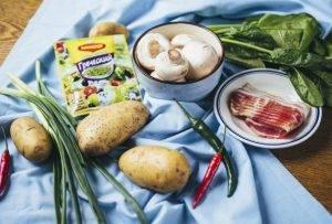 Теплый салат с молодым картофелем и хрустящим беконом - 0