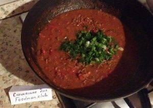 Спагетти с фаршем и овощами - 4