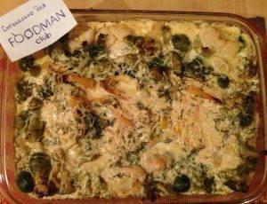 Куриная грудка, запеченная с овощами в сливочном соусе - 4