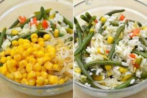 Вегетарианский рисовый салат с ростками сои - 1