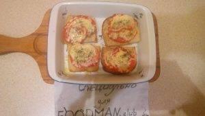 Запеченные бутерброды с помидорами и сыром - 4