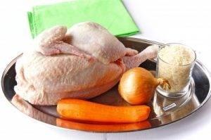 Запеченная курица, фаршированная рисом - 0