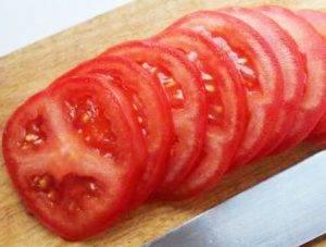 Запеченные баклажаны с помидором и сыром - 0