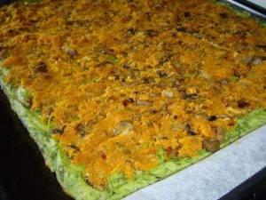 Кабачковый рулет с грибами и морковью - 5