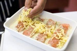 Запеченный лосось со сливками и сыром - 2