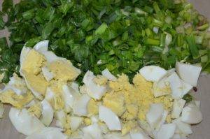 Пироги с зеленым луком и яйцами - 0