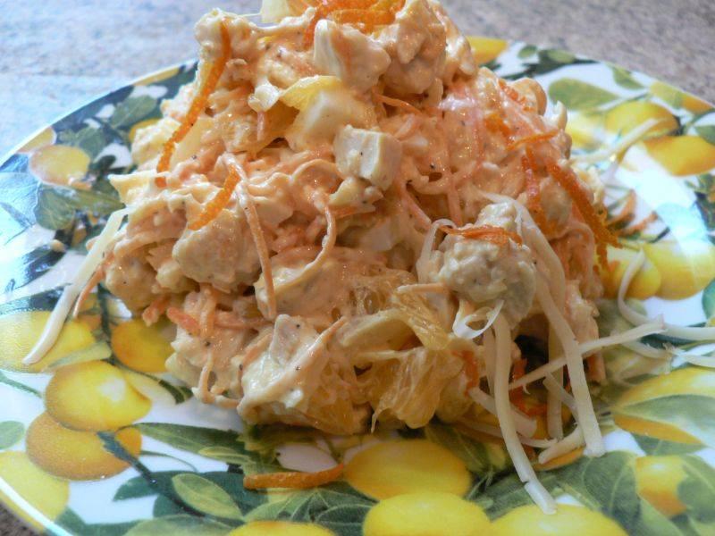 Салат американский рецепт с корейской морковкой