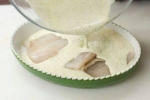 Рыба, запеченная в белом соусе - 0