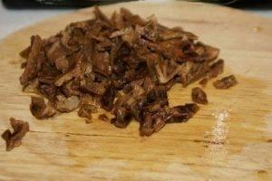 Салат мясной с грибами - 5