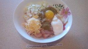 Куриные оладушки с сыром и чесноком - 2