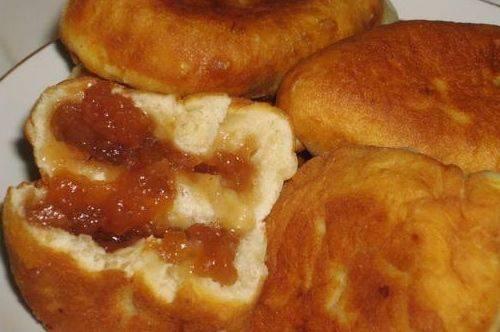 Жареные пирожки с вареньем рецепт с фото