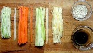 Феттуччине из овощей - 1