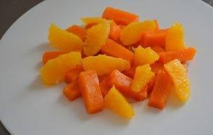 Сладкий салат из тыквы и апельсинa - 1