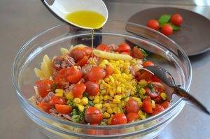 Холодный салат с пастой и тунцом - 1