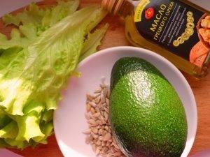 Салат с авокадо и семечками - 0