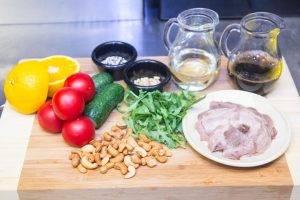Салат с языком и ореховым соусом - 0