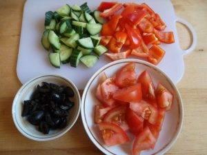 Салат с адыгейским сыром и семенами льна - 1