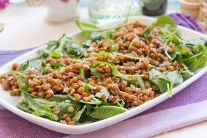 Теплый салат с тыквой и чечевицей - 1