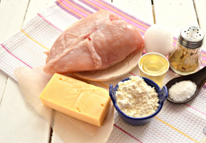 Шницель из куриного филе с сыром - 0