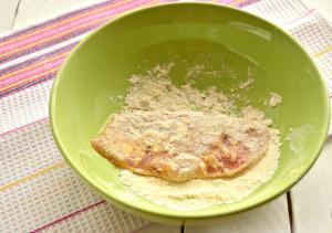 Шницель из куриного филе с сыром - 4