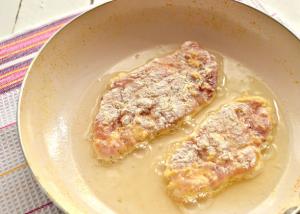 Шницель из куриного филе с сыром - 5