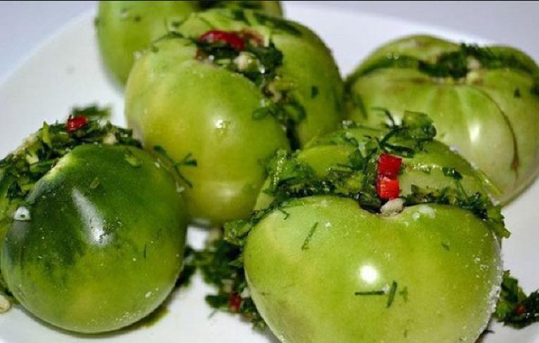 Рецепт зеленых помидор по грузински