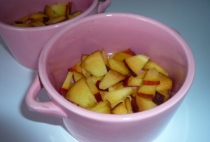 Маффины с персиками на кефире - 1