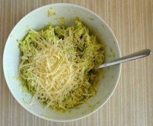 Кабачковые оладьи с сыром - 0