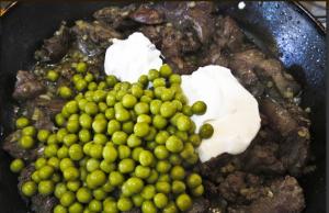 Куриная печень с зеленым горошком - 3