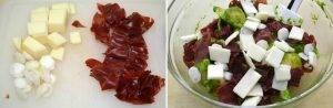 Салат из макарон с брезаолой и песто из рукколы - 1