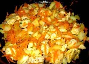 Курица с фасолью в томатной заливке - 0