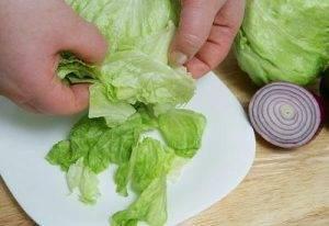 Диетический салат с зерненым творогом - 0