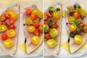 Запеченная рыба-меч с помидорами - 0