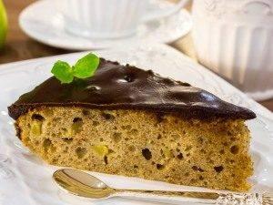 Яблочно-банановый пирог с шоколадной глазурью - 7